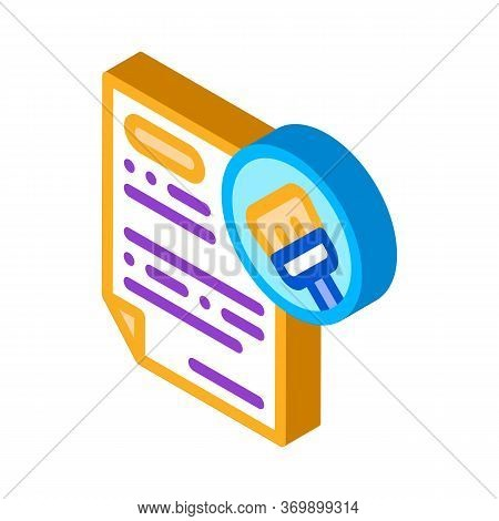 Agreement Clean Icon Vector. Isometric Agreement Clean Sign. Color Isolated Symbol Illustration