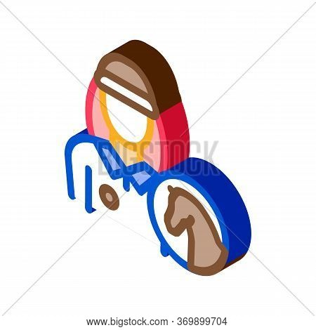 Man Jockey Icon Vector. Isometric Man Jockey Sign. Color Isolated Symbol Illustration