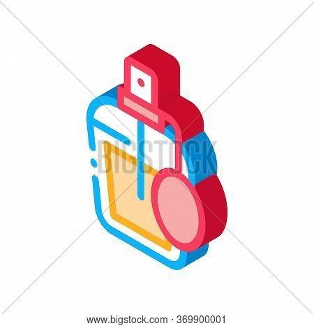 Perfume Bottle Icon Vector. Isometric Perfume Bottle Sign. Color Isolated Symbol Illustration