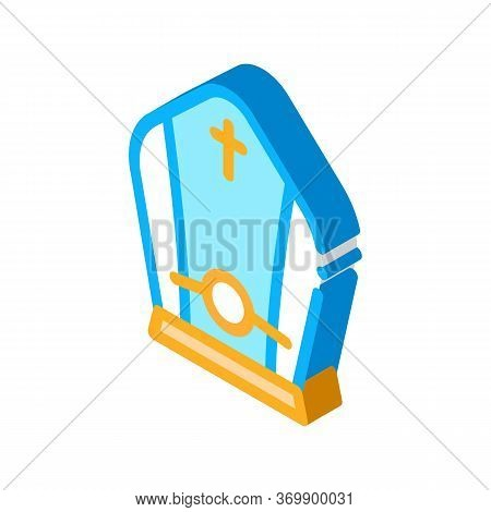 Papal Tiara Icon Vector. Isometric Papal Tiara Sign. Color Isolated Symbol Illustration