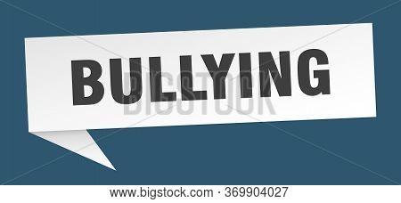 Bullying Speech Bubble. Bullying Ribbon Sign. Bullying Banner
