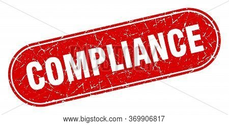 Compliance Sign. Compliance Grunge Red Stamp. Label
