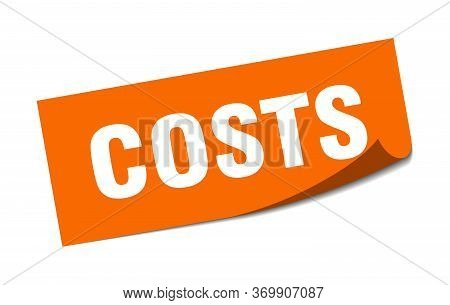 Costs Sticker. Costs Square Sign. Costs. Peeler