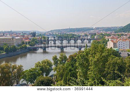 Prague river and bridges