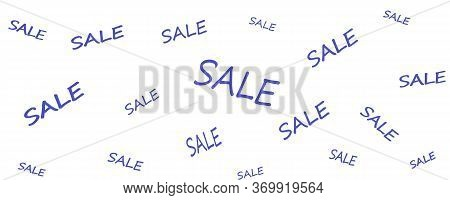 Sale Banner. Sale Pattern. Sale Sticker With An Advertising Banner. Sale Campaign Yellow Price Tag.