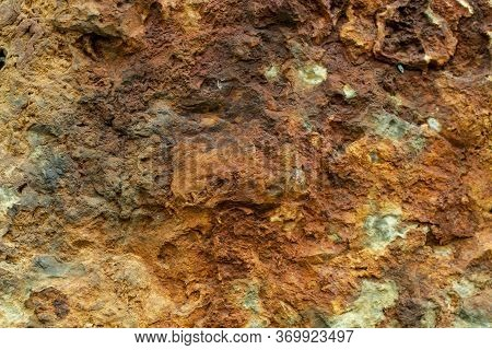 Closeup On A Silica Sinter Rock - Geology Texture Or Background