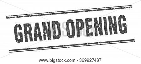 Grand Opening Stamp. Grand Opening Label. Square Grunge Sign