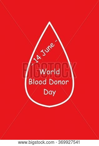 Blood Donor Awareness Logo. Modern Style Logo Illustration For June Awareness Companies. World Blood