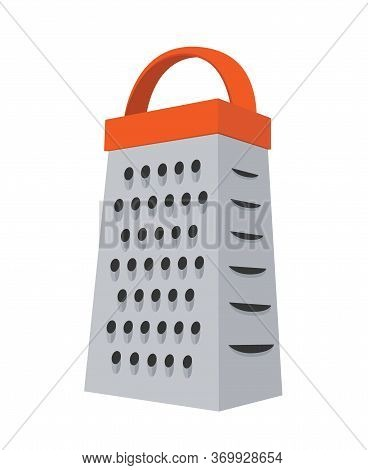 Vector Grater - Stainless Kitchenware To Slice Vegetables, Cut Products