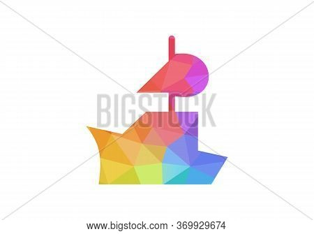 Ship Logo, Sailing Boat Icon Vector Design, Cruise Ship Logo Template Vector Icon Illustration Desig