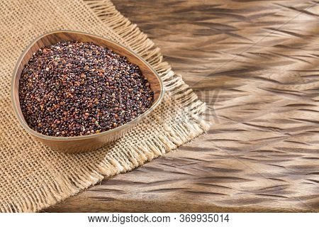 Black Seeds Of Quinoa. Quinoa Cereal Bar. View From Above - Chenopodium Quinoa