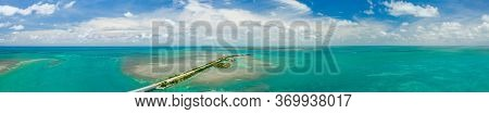 Florida Keys Overseas Highway Aerial Panorama Saturated Colors Landscape Photography