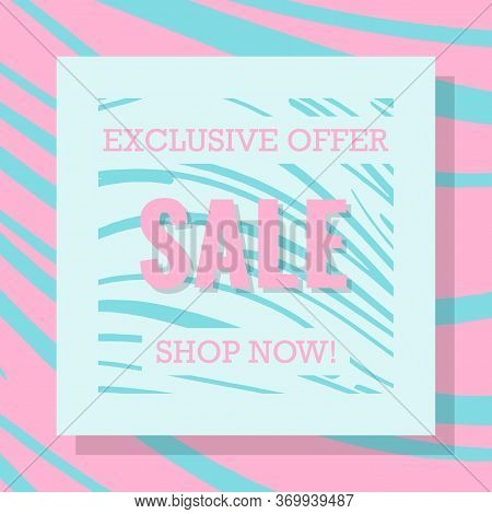 Bright Striped Modern Banner For Sale. Sale Tag. Banner ,discount Tag , Special Offer. Modern Sale W