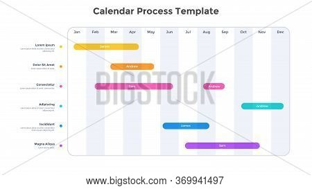 Calendar Planner Or Timeline Chart. Concept Of Schedule Or Timetable. Minimal Infographic Design Tem