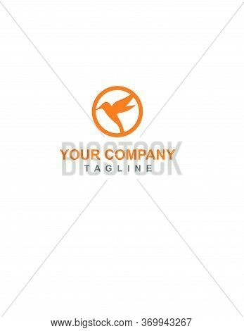 Circle Orange Mocking Bird Logo And Vector Icon