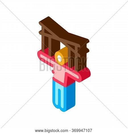 Puppet Show Icon Vector. Isometric Puppet Show Sign. Color Isolated Symbol Illustration