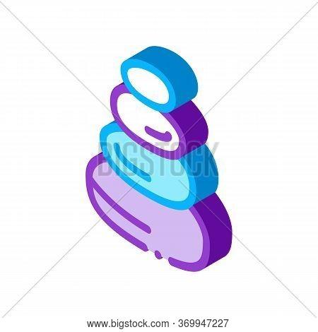 Stones Balance Icon Vector. Isometric Stones Balance Sign. Color Isolated Symbol Illustration