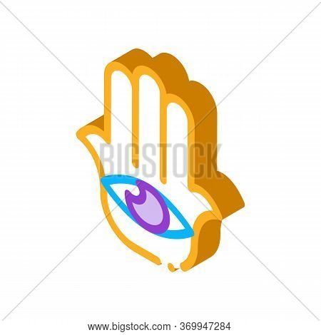 All-seeing Eye Icon Vector. Isometric All-seeing Eye Sign. Color Isolated Symbol Illustration