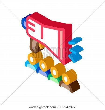 Loudspeaker Icon Vector. Isometric Loudspeaker Sign. Color Isolated Symbol Illustration