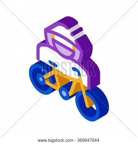 Bike Theft Icon Vector. Isometric Bike Theft Sign. Color Isolated Symbol Illustration