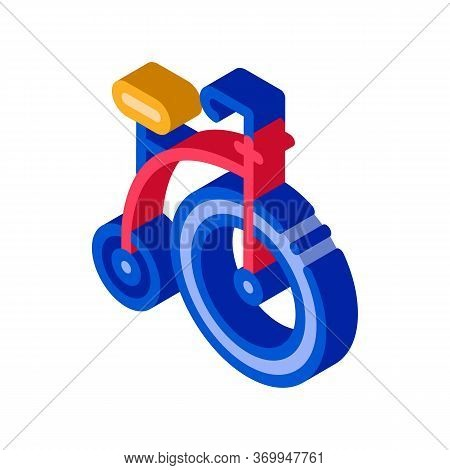 Penny Farthing Icon Vector. Isometric Penny Farthing Sign. Color Isolated Symbol Illustration