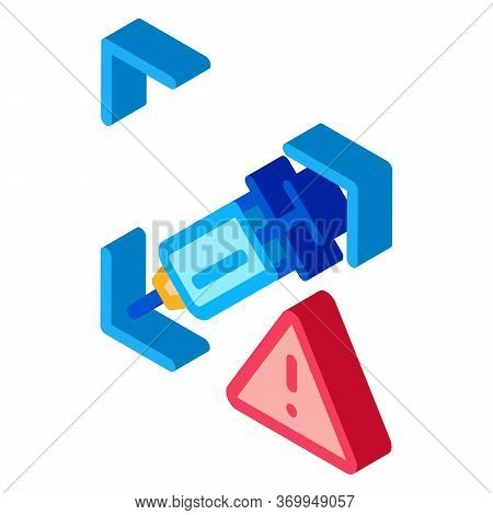 Detection Of Injection Problems Icon Vector. Isometric Detection Of Injection Problems Sign. Color I