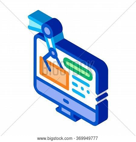 Information Retrieval Icon Vector. Isometric Information Retrieval Sign. Color Isolated Symbol Illus