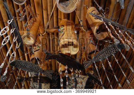 Palawan, Ph - Dec 1 - The Lotus Garden Asian Fine Dining Restaurant Bamboo Ceiling Decors On Decembe