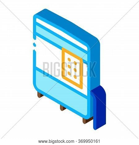 Closed Oven With Timer Icon Vector. Isometric Closed Oven With Timer Sign. Color Isolated Symbol Ill