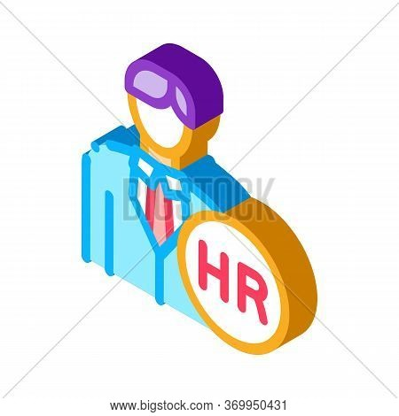 Human Resource Icon Vector. Isometric Human Resource Sign. Color Isolated Symbol Illustration