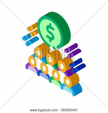 People Desire To Have Money Icon Vector. Isometric People Desire To Have Money Sign. Color Isolated