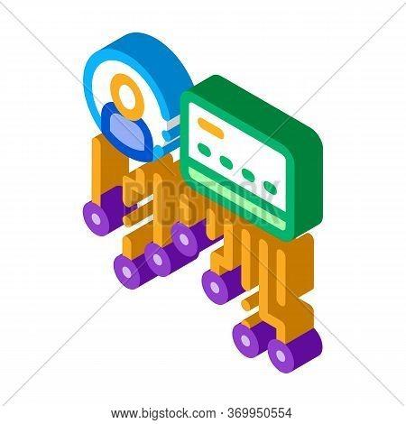Cardholder Details Icon Vector. Isometric Cardholder Details Sign. Color Isolated Symbol Illustratio