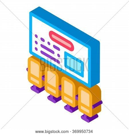 Organizational Workplace Icon Vector. Isometric Organizational Workplace Sign. Color Isolated Symbol