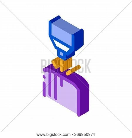 Drilling Parts Icon Vector. Isometric Drilling Parts Sign. Color Isolated Symbol Illustration