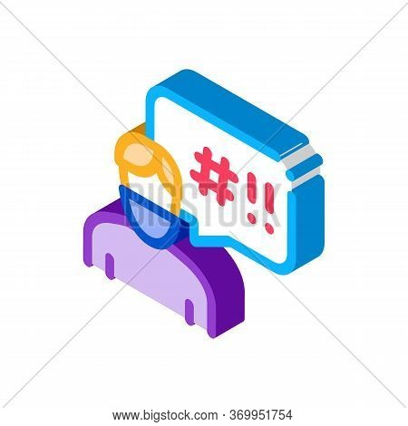Masked Man Requirements Icon Vector. Isometric Masked Man Requirements Sign. Color Isolated Symbol I