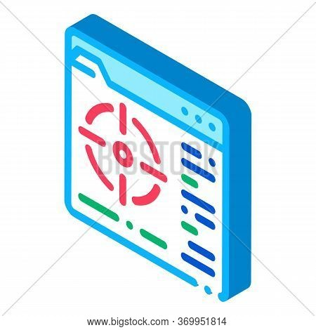 Target To Specific Folder Icon Vector. Isometric Target To Specific Folder Sign. Color Isolated Symb