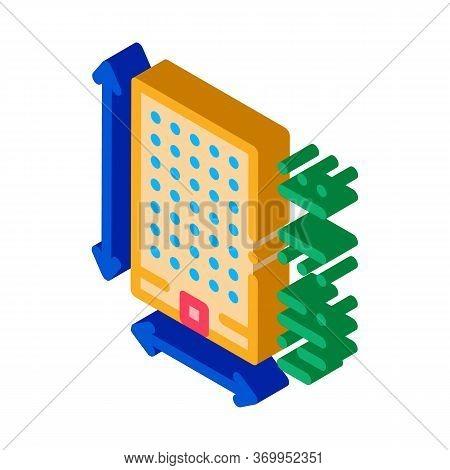 Determination Of Area Construction Icon Vector. Isometric Determination Of Area Construction Sign. C