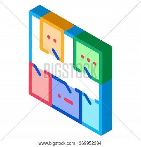 Geodetic Axis Breakdown Icon Vector. Isometric Geodetic Axis Breakdown Sign. Color Isolated Symbol I