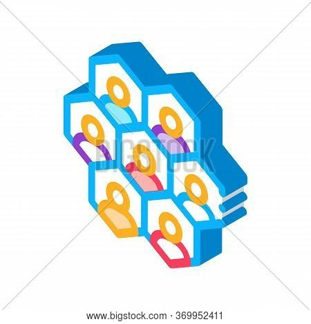 Individuality Of Each Person Icon Vector. Isometric Individuality Of Each Person Sign. Color Isolate