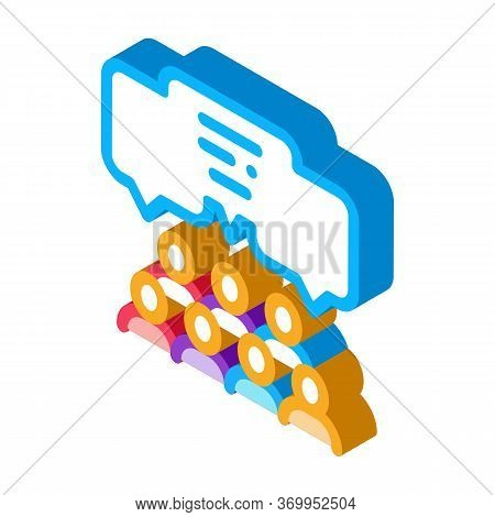Public Opinion Icon Vector. Isometric Public Opinion Sign. Color Isolated Symbol Illustration
