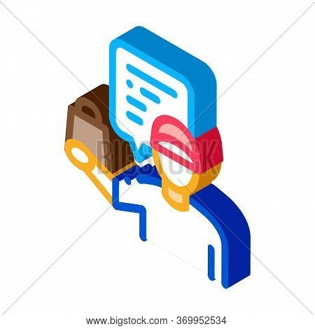 Takeaway Seller Icon Vector. Isometric Takeaway Seller Sign. Color Isolated Symbol Illustration