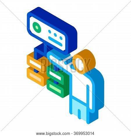 Gradual Algorithm Icon Vector. Isometric Gradual Algorithm Sign. Color Isolated Symbol Illustration