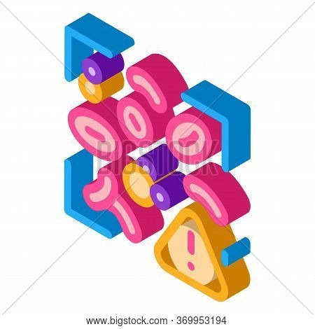 Harmful Substances In Blood Icon Vector. Isometric Harmful Substances In Blood Sign. Color Isolated
