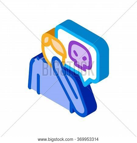 Bully Man Icon Vector. Isometric Bully Man Sign. Color Isolated Symbol Illustration