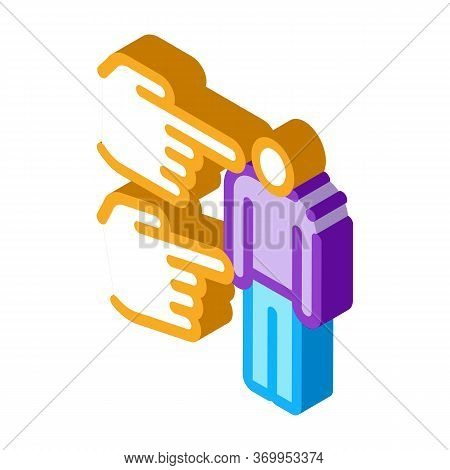 Human Bullying Icon Vector. Isometric Human Bullying Sign. Color Isolated Symbol Illustration