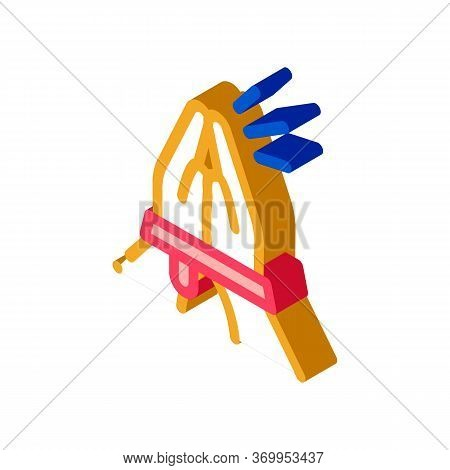 Tied Hands Asking For Help Icon Vector. Isometric Tied Hands Asking For Help Sign. Color Isolated Sy
