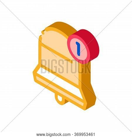 One New Notice Icon Vector. Isometric One New Notice Sign. Color Isolated Symbol Illustration