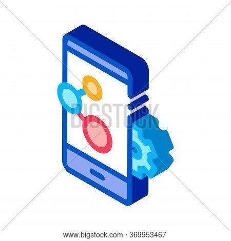 Telephone Settings Icon Vector. Isometric Telephone Settings Sign. Color Isolated Symbol Illustratio