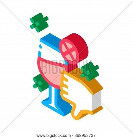 Disapproval Of Wine Icon Vector. Isometric Disapproval Of Wine Sign. Color Isolated Symbol Illustrat