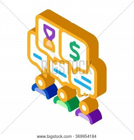 Different Values Of People Icon Vector. Isometric Different Values Of People Sign. Color Isolated Sy